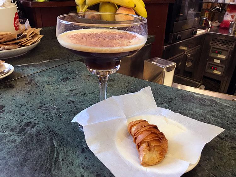 Shakerato Italian iced coffee