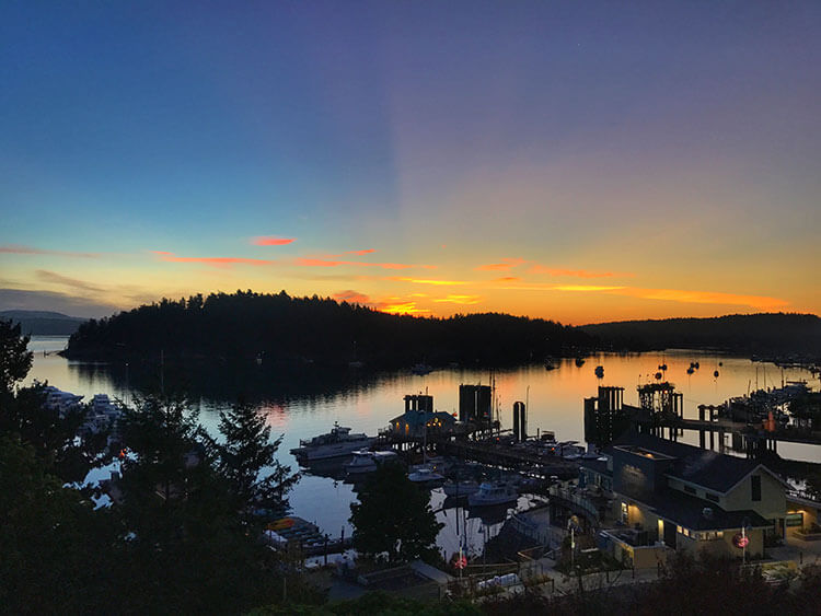 Sunrise in Friday Harbor
