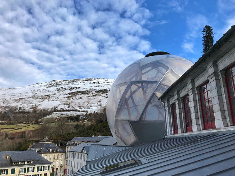The bubble mixed modern with Belle Epoque architecture in Eaux Bonnes