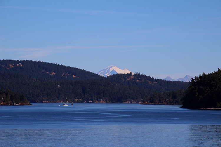 View of Mount Baker from the ferry
