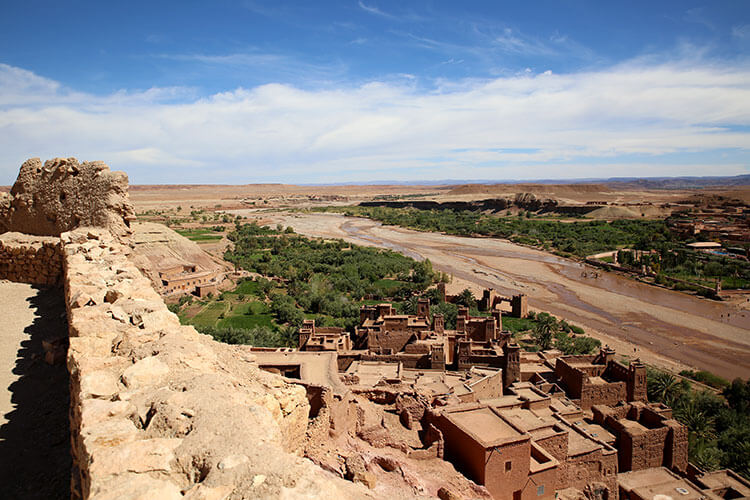 The fortress atop Ait-Ben-Haddou affords a stunning 360-degree view