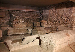 Tombs in the Sain Seurin Crypt in Bordeaux