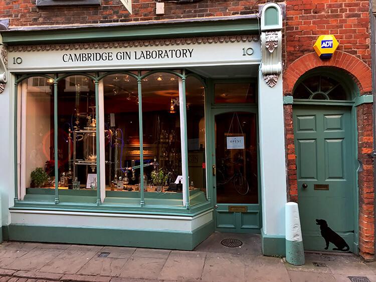 Exterior of Cambridge Gin Lab