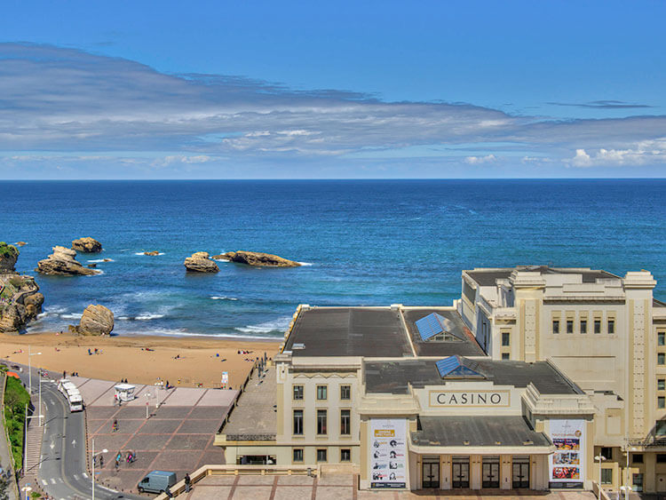 View of Casino and Grande Plage from Mercure Biarritz Centre Plaza