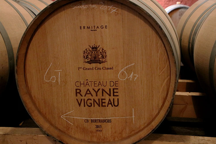 A barrel from the 2017 harvest marked lot 6