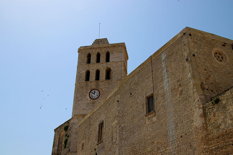 The tower of the cathedral a top Dalt Vila