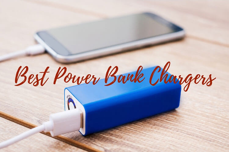 An iPhone charging with a portable power bank