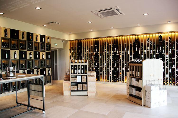 The wine shop at Château de Seguin