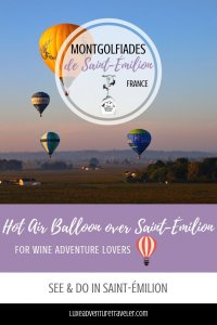 Hot Air Ballooning in Saint-Emilion Pinterest Pin