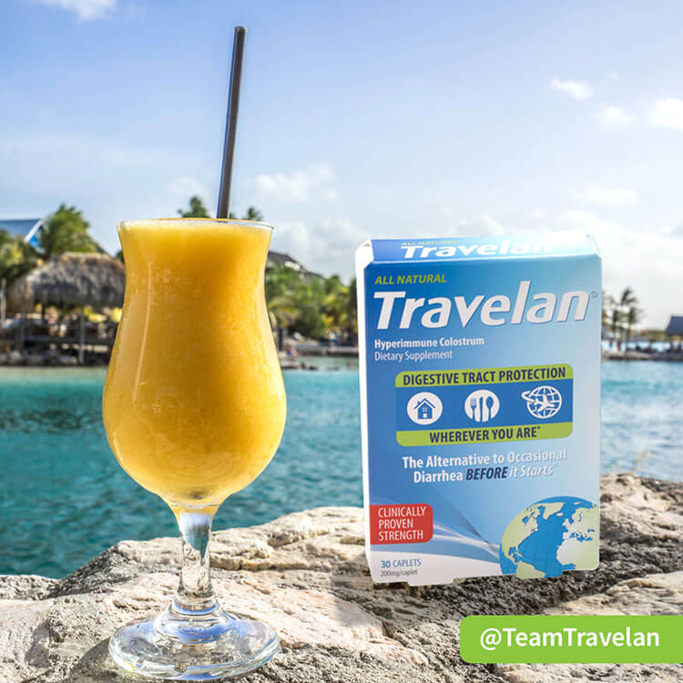 Travelan Traveler's Diarrhea prevention medicaiton package