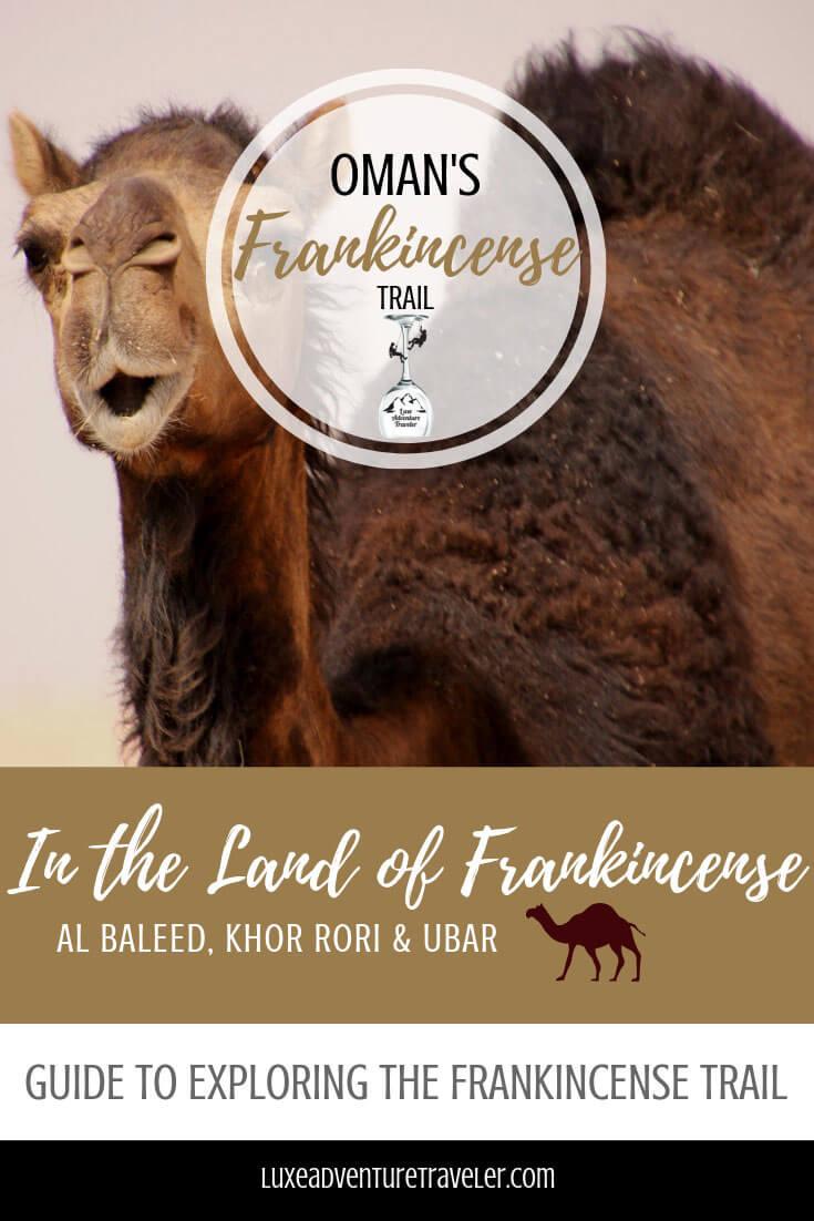 The Frankincense Trail, Dhofar, Oman Pinterest Pin