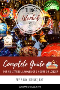 Things to Do in Istanbul on a Layover Pinterest Pin