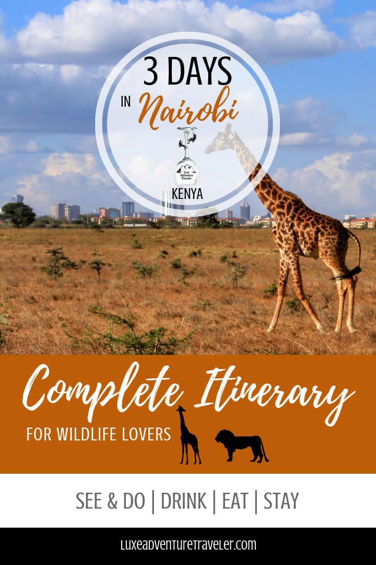 Things to Do in Nairobi, Kenya Pinterest Pin