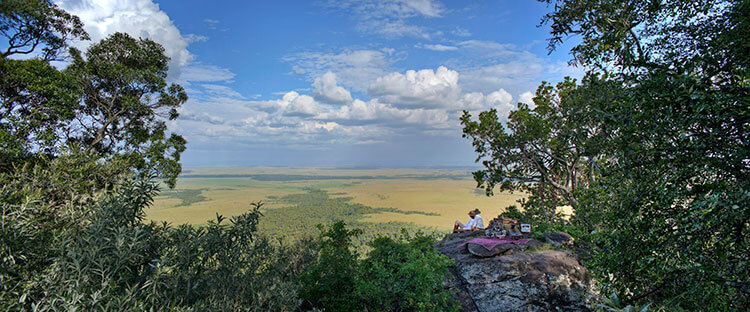 The Out of Africa hill at Angama Mara looking out over the Masai Mara