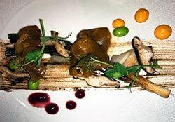 Gyozas with shitake mushroom and edamame at Nama