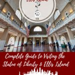 Guide to Visiting the Statue of Liberty and Ellis Island in New York City Pinterest Pin