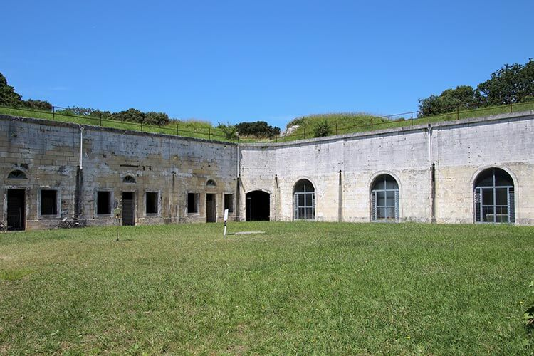 Inside the courtyard of Fort Liédot on Île d'Aix